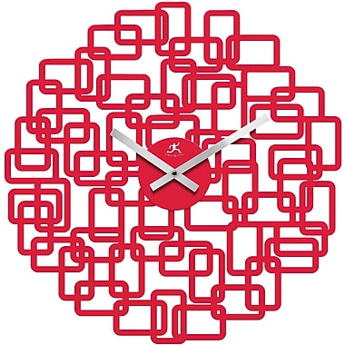 Infinity Instruments Helix Modern Red Wall Clock