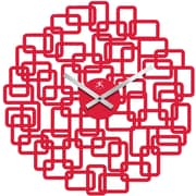 Infinity Instruments 14028 Helix Resin Analog Wall Clock, Red