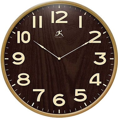 Infinity Instruments 14065NT-3161WL Arbor II Wood Analog Wall Clock, Beige