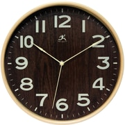 Infinity Instruments Modern Light Wood Case Wall Clock, 12.5 Diameter