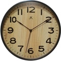 Infinity Instruments Modern Dark Wood Case Wall Clock, 12.5in. Diameter