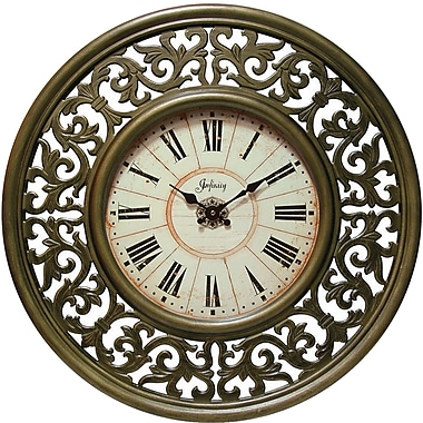 Infinity Instruments 14074-3165 Crescendo MDF Analog Wall Clock, Sage