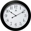Infinity Instruments Modern Black Wall Clock with White Face