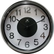 Infinity Instruments Modern Metal Resin Wall Clock