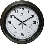 Infinity Instruments 14109BK-3177 Seer Steel Analog Wall Clock, Black