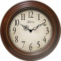 "Infinity Instrument Atheneum 24"" Traditional Antique Walnut Wall Clock"