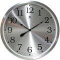 "Infinity Instruments 31.5"" Modern Brushed Aluminum Large Wall Clock"