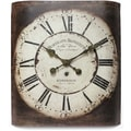 Infinity Instruments Bordeaux 19in. Traditional Metal Wall Clock, Dark Brown