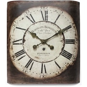 Infinity Instruments 14193-3257 Bordeaux Steel Analog Wall Clock, Rust