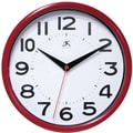 Infinity Instruments Resin Case Wall Clock, Red Resin