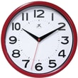 Infinity Instruments Metro Wall Clock, Red