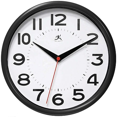 Infinity Instruments Resin Case Wall Clock, Black Resin
