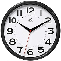 Infinity Instruments Metro Wall Clock (Black / Silver)