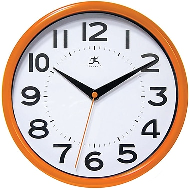 Infinity Instruments Resin Case Wall Clock, Orange Resin