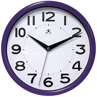 Infinity Instruments Resin Case Wall Clock, Purple Resin