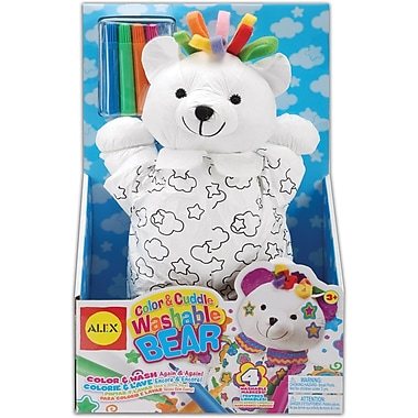 Alex Toys Color & Cuddle Washable Kit, Bear