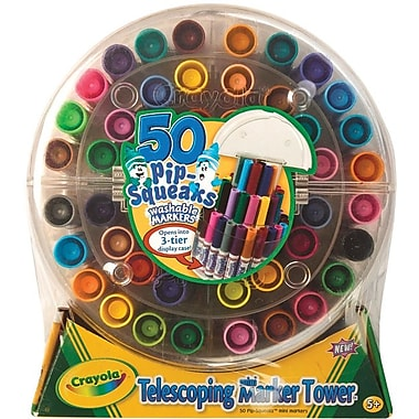 Crayola PipSqueaks Telescoping Marker Tower, 50/Pkg