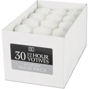 Darice Unscented 12 Hour Votive Candles, 30/Pkg