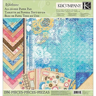 K&Company Julianne Vintage All-In-One Paper Pad, 12in. x 12in.