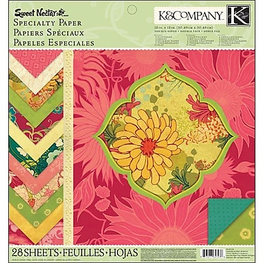 K&Company Sweet Nectar Mod Specialty Paper Pad, 12in. x 12in.