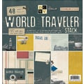 Diecuts With A View World Traveler Paper Stack, 12in. x 12in.