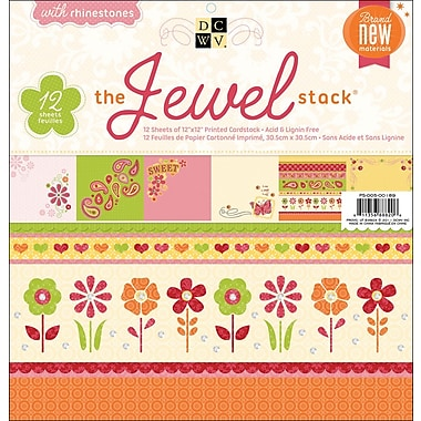 Diecuts With A View Jewel Paper Stack 12in. x 12in.-24 Sheets