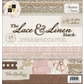 Diecuts With A View Lace & Linen Paper Stack 12in.X12in.-48 Sheets