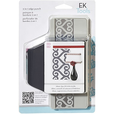 EK Success Slim Edger Punch 2 In 1, Scallop & Hearts