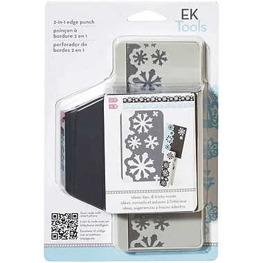 EK Success Slim Edger Punch 2 In 1, Snow Flurries
