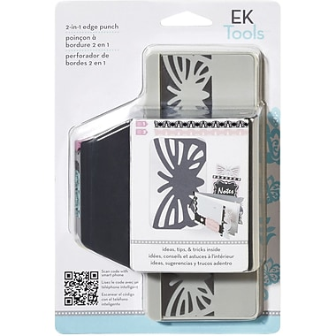 EK Success Slim Edger Punch 2 In 1, Striped Butterfly