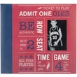 MBI Allstars Sports Postbound Album, 12in. x 12in., Red