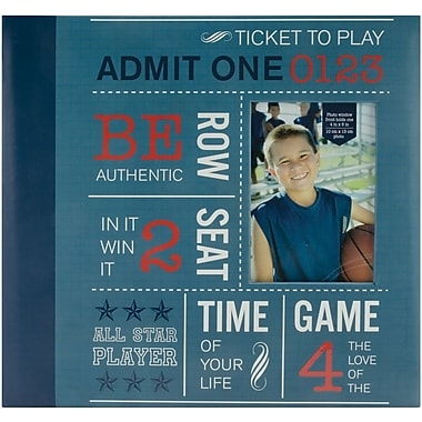 MBI Allstars Sports Postbound Album, 12in. x 12in., Blue