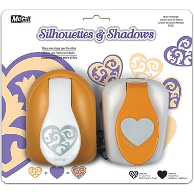 Mc Gill Silhouettes & Shadows Lever Punch Set, 2/Pkg, Heart