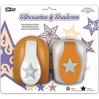 Mc Gill Silhouettes & Shadows Lever Punch Set, 2/Pkg, Star