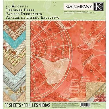 K&Company Travel Designer Double-Sided Paper Pad 12in.X12in.-36 Sheets