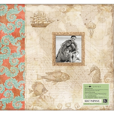 K&Company Travel Postbound Album, 12in. x 12in.
