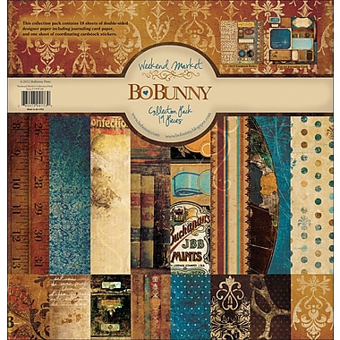 Bo Bunny Weekend Market Collection Pack 12in.X12in.-18 Double-Sided Papers + Sticker Sheet