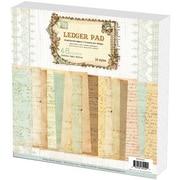 Prima Flowers Ledger Paper Stack 12X12 48 Sheets-16 Designs/3 Each