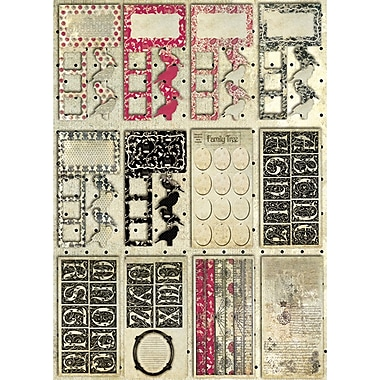 Fabscraps Classic Die-Cuts Tags Journal 8in.X4in. Pad-60 Sheets With Tags, Shapes & Pages