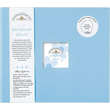 Doodlebug Storybook Album, 12in. x 12in., Bubble Blue