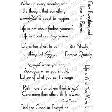 My Favorite Things Clearly Sentimental Sheet, Pearls of Wisdom