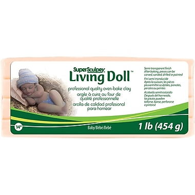 Polyform Super Sculpey Living Doll Clays, 1 Pound