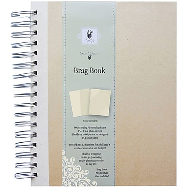 Fancy Pants Artist Edition Spiral Brag Book, Cream
