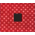 American Crafts Patterned D-Ring Album, 12in. x 12in., Cardinal Dots