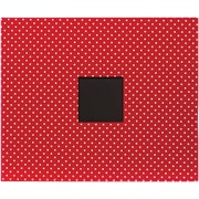 American Crafts Patterned D-Ring Album, 12 x 12, Cardinal Dots