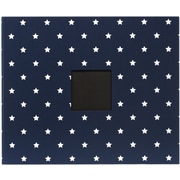 "American Crafts Patterned D-Ring Album, 12"" x 12"", Navy Stars"