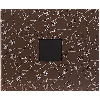 American Crafts Patterned D-Ring Album, 12in. x 12in., Chestnut Vines