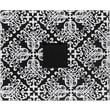 American Crafts Patterned D-Ring Album, 12in. x 12in., Black & White Damask