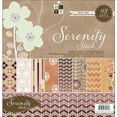Diecuts With A View Serenity Paper Stack 12in.X12in.-48 Sheets