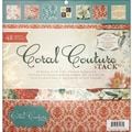 Diecuts With A View Coral Couture Paper Stack 12in.X12in.-48 Sheets
